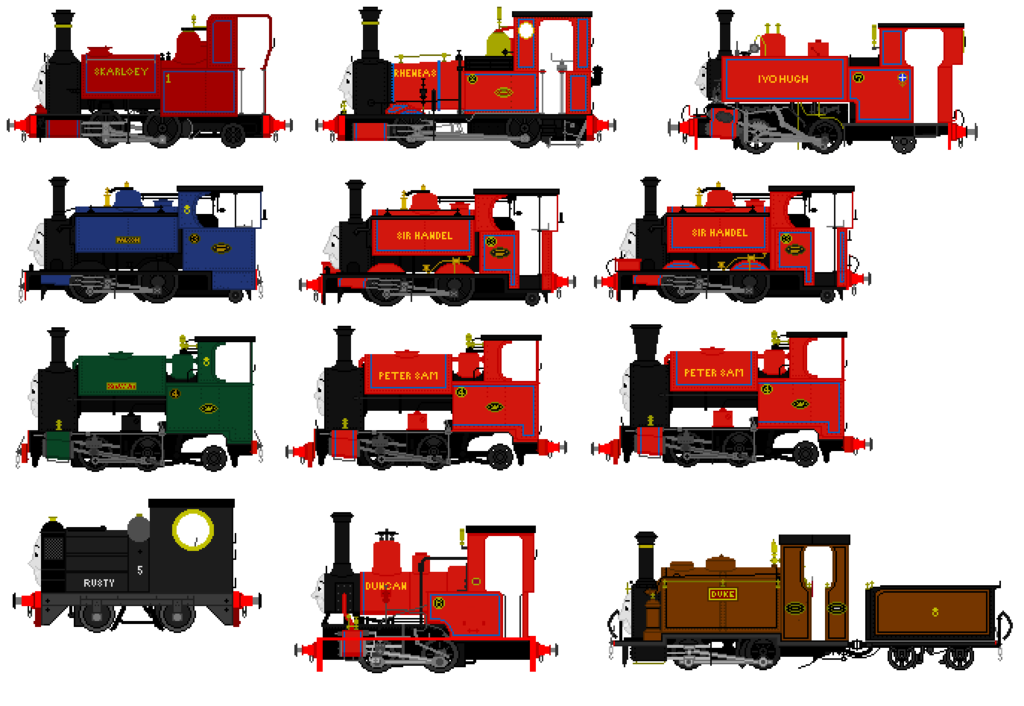 Railway Series Narrow Gauge Engines by OneTrueThomasFan on DeviantArt.