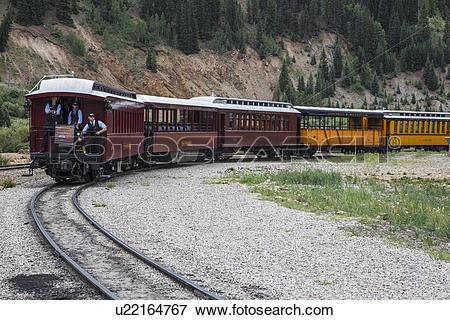 "Picture of ""Three Brakemen on Durango and Silverton Narrow Gauge."