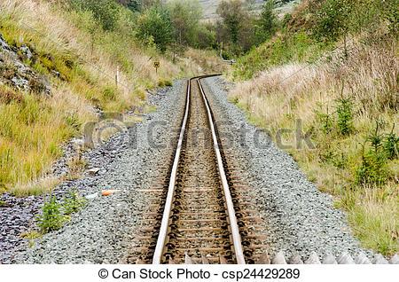 Pictures of Narrow Gauge Railway Track csp24429289.