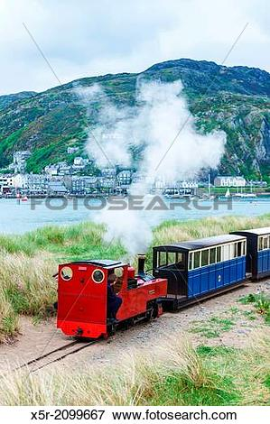 Picture of steam train, Fairbourne narrow gauge railway, Barmouth.