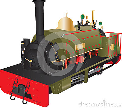 Narrow Gauge Railway Train Stock Illustrations.