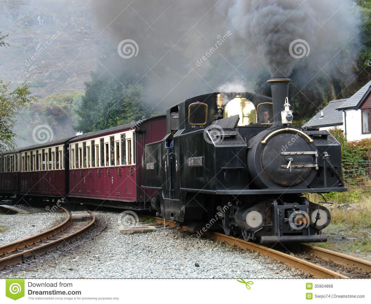 Steam Narrow Gauge Train. Editorial Stock Photo.