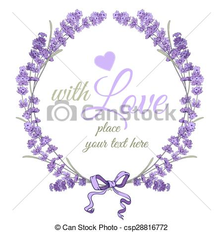 Vector Clip Art of Common Lavender or Lavandula angustifolia.