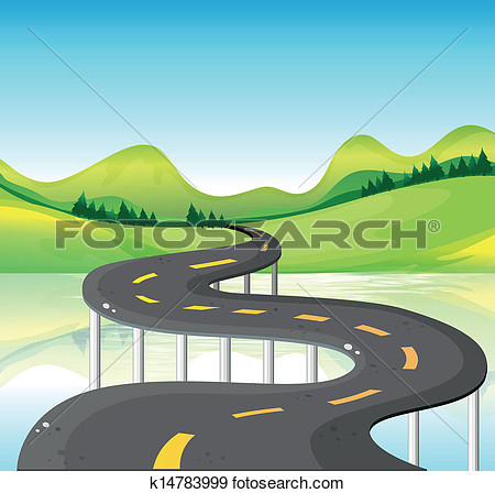 Narrow Road Clipart.