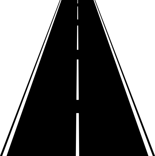 Straight road clipart #11