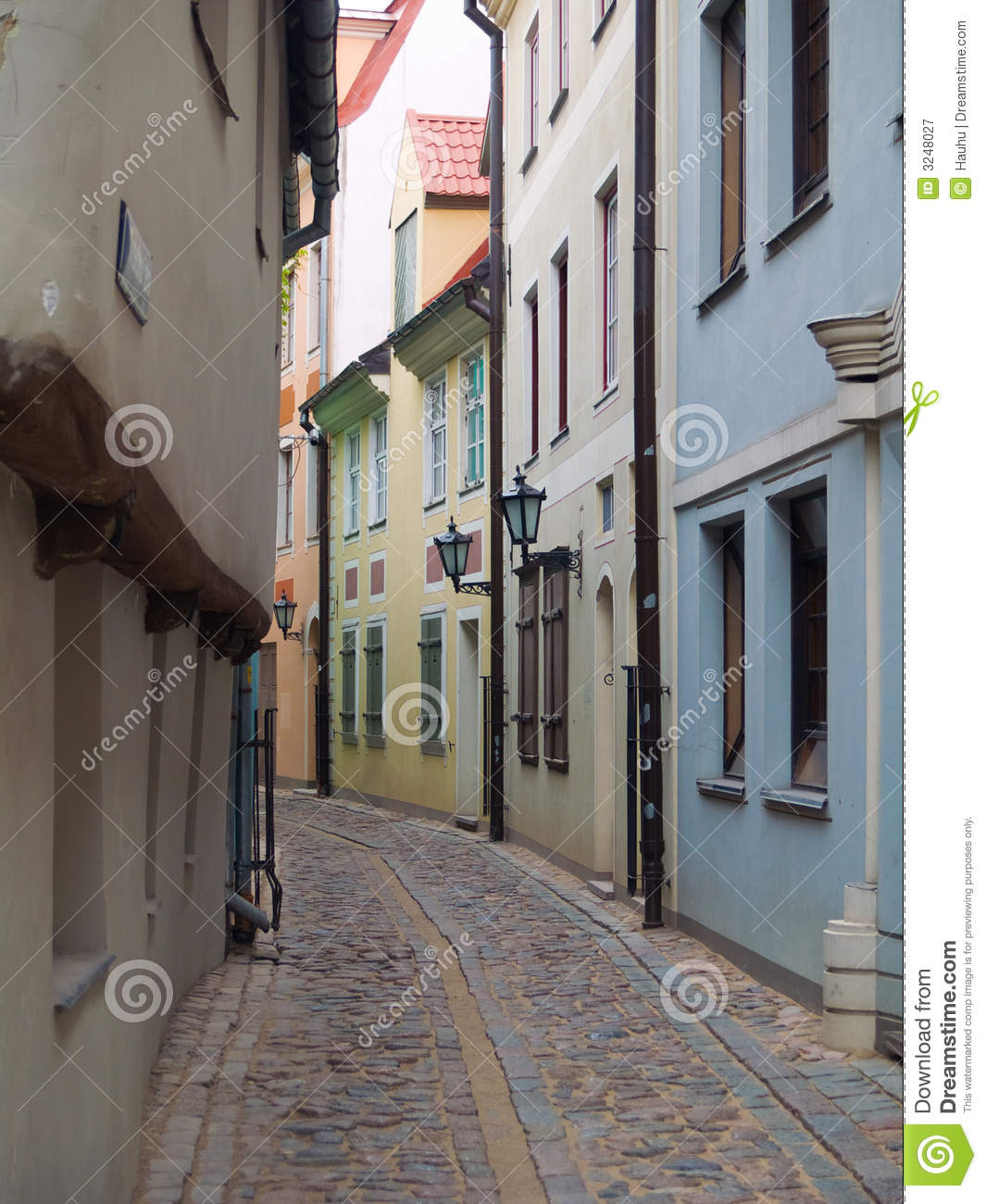 Narrow Street Royalty Free Stock Photography.