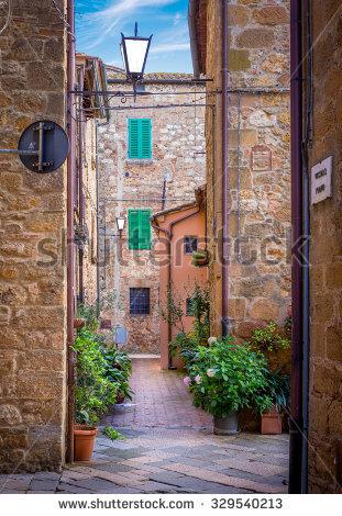 Italian Street Stock Photos, Royalty.