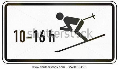 Austrian Regulatory Sign 21 Mandatory Uturn Stock Illustration.