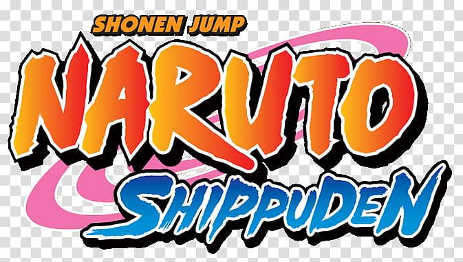 Naruto Shippuden logo, Shonen Jump Naruto Shippuden logo.
