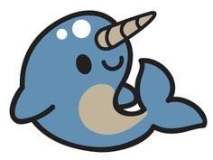 Narwhal Whale Clipart.