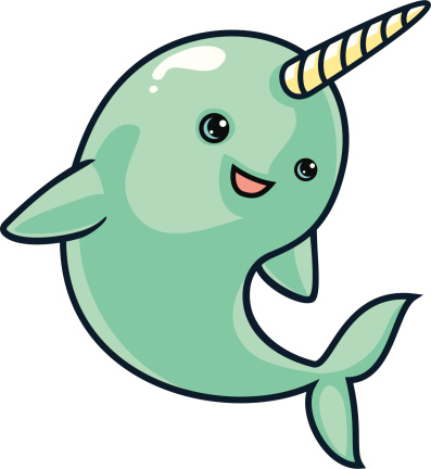 Narwhal Clip Art, Vector Images & Illustrations.