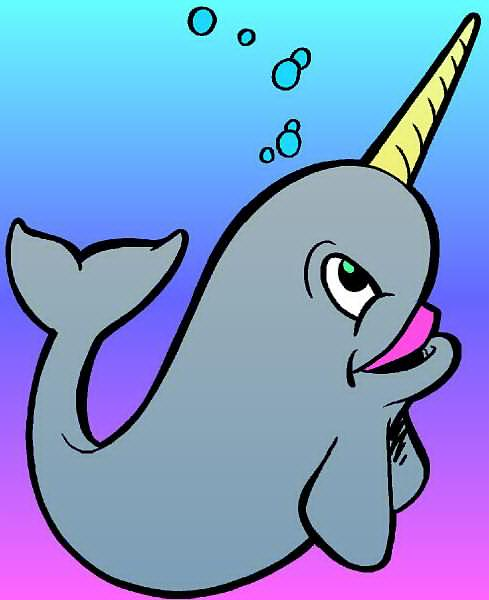 Narwhal Clip Art.