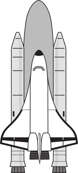 NASA Space Shuttle Free vector in Open office drawing svg.