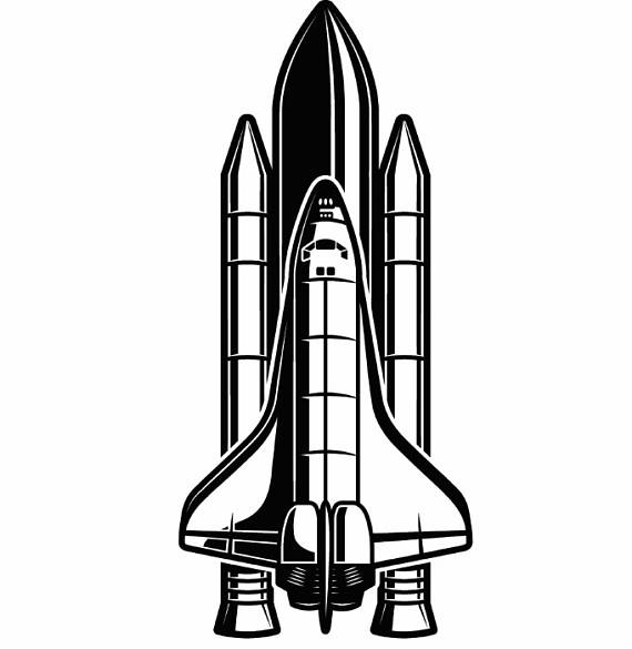 273 Space Shuttle free clipart.