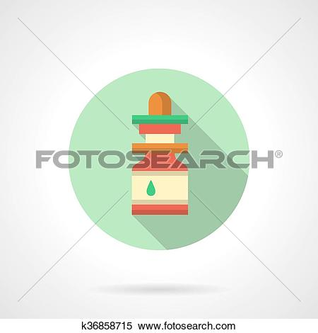 Clipart of Nasal drops flat color design vector icon k36858715.
