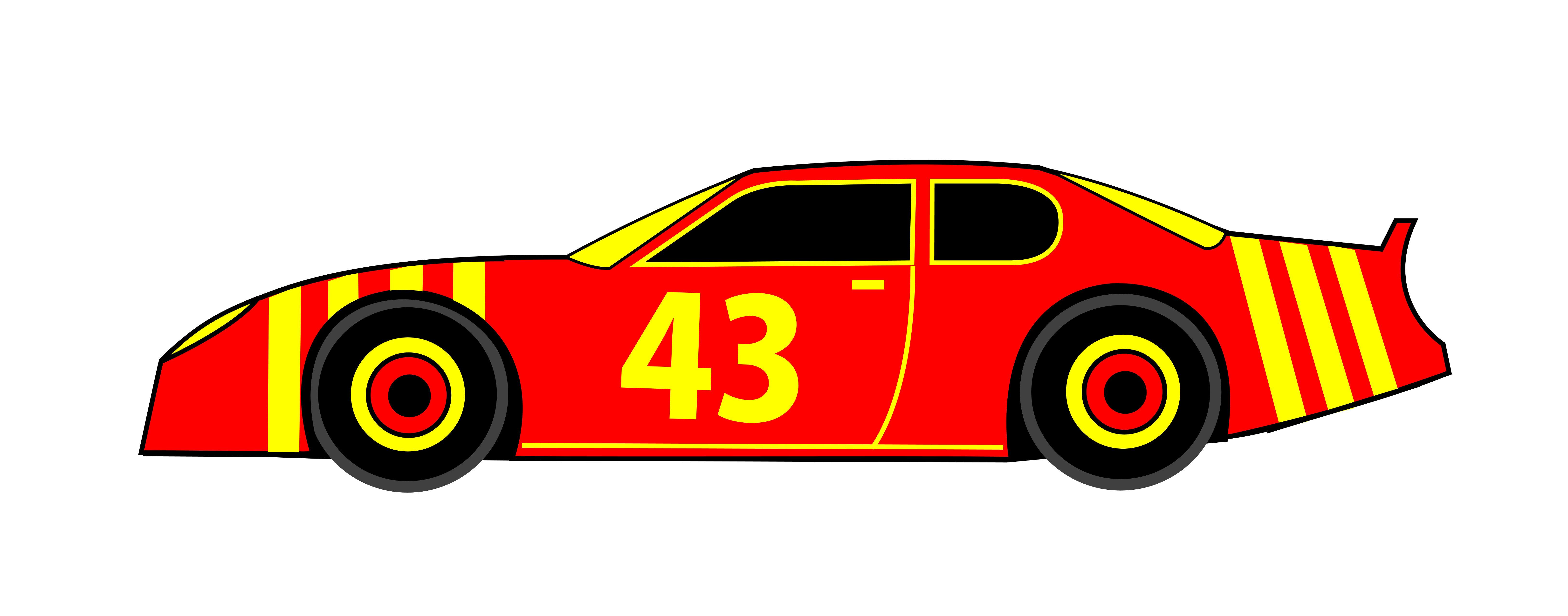 Free clipart nascar cars.
