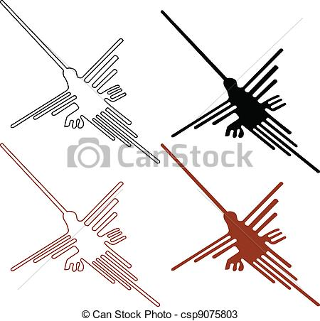 Vectors of Nazca Lines Set.