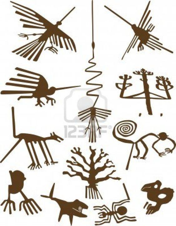Nazca Lines Stock Photo.