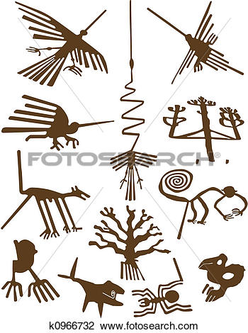 Clip Art of Nazca Lines k0966732.
