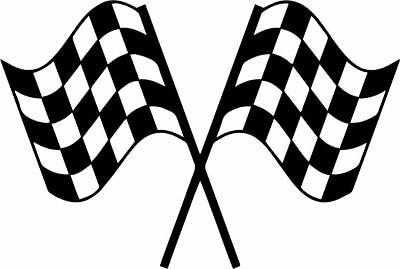 Racing Finish Line Flags Decal Window Bumper Sticker Car Decor Nascar Car  Race.
