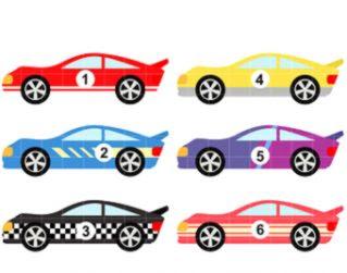 Nascar Race Cars Clip Art.
