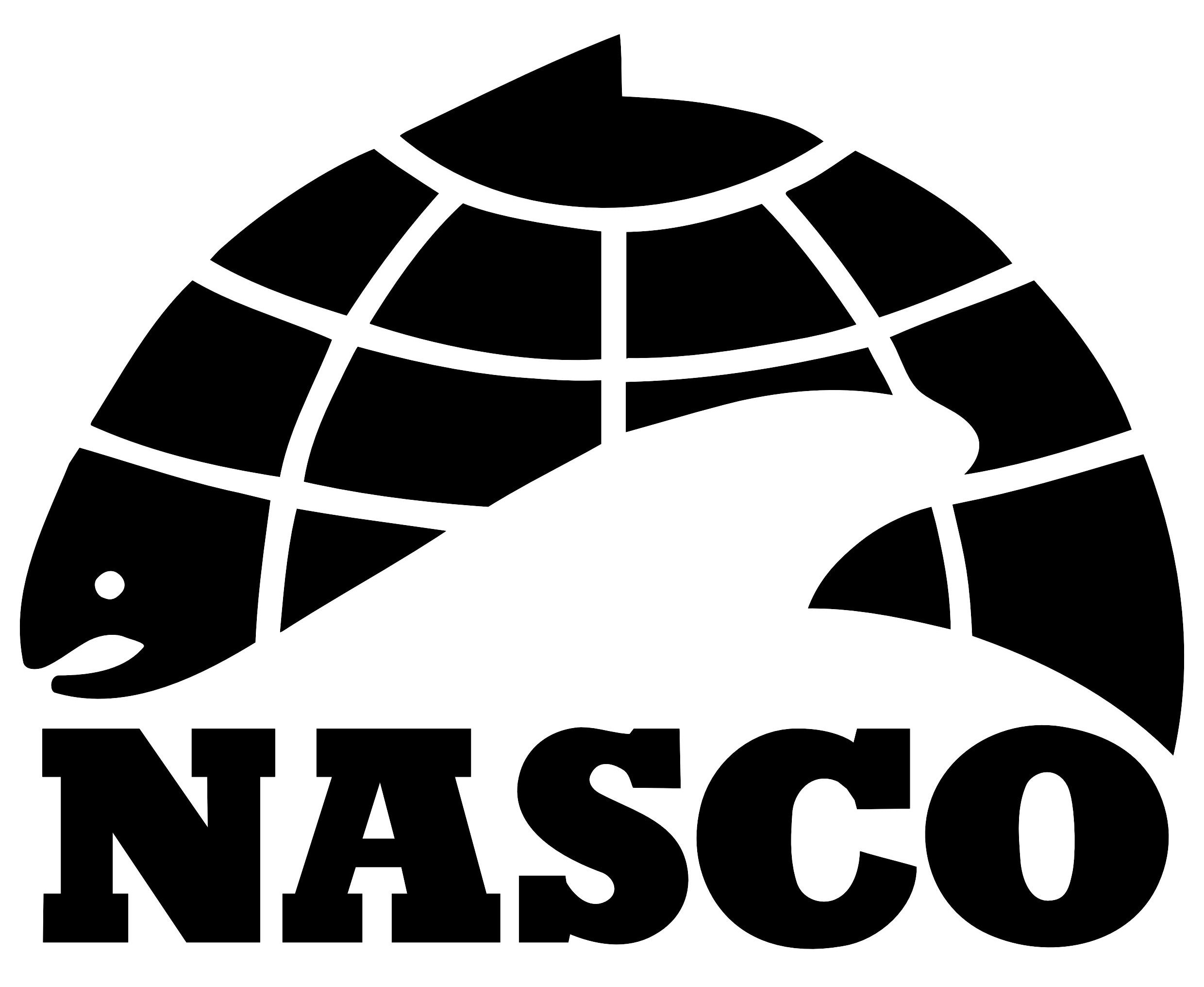 NASCO – North Atlantic Salmon Conservation Organization Logo.
