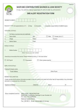 Nasfund Online Registration.