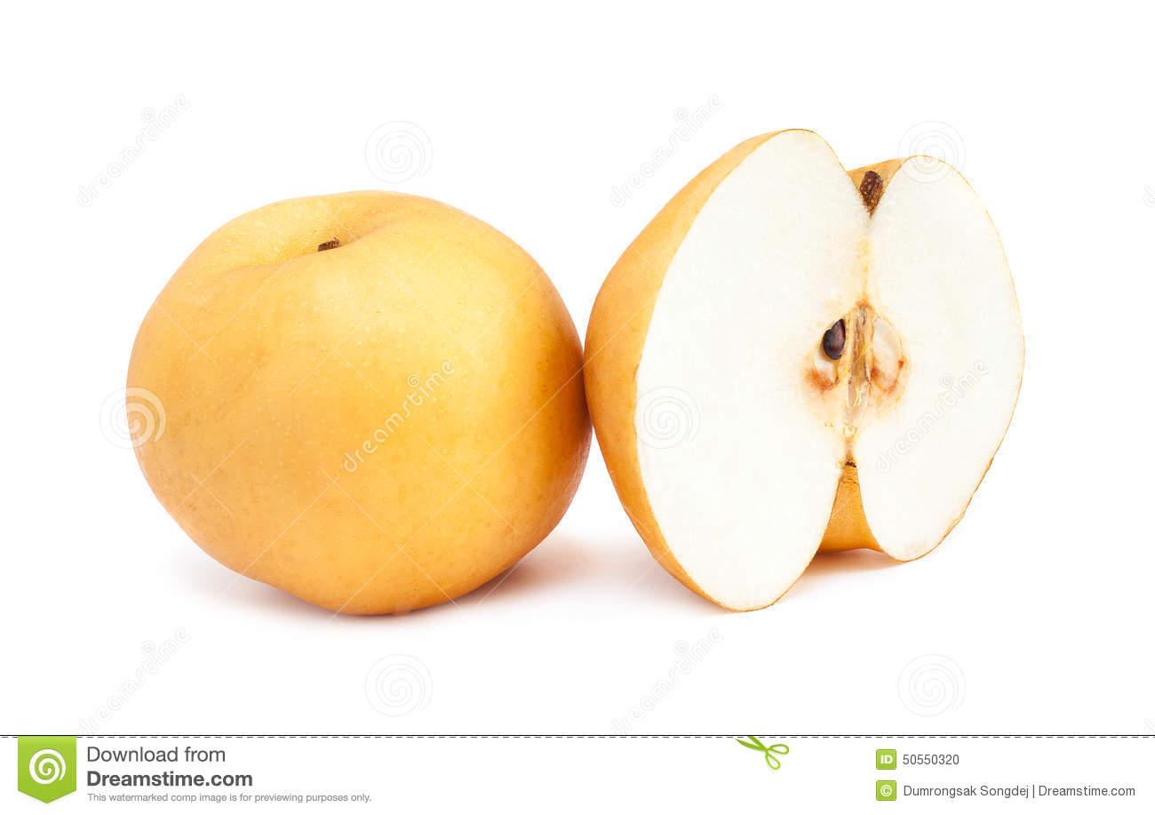 Fresh Asian Pear Stock Photo.