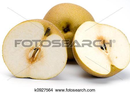 Stock Photo of asian nashi pear k0927564.