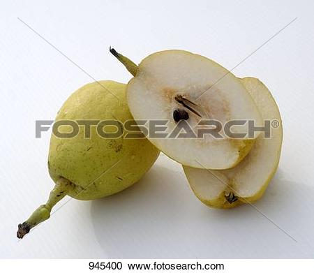 Stock Photography of Whole and halved Nashi pears 945400.