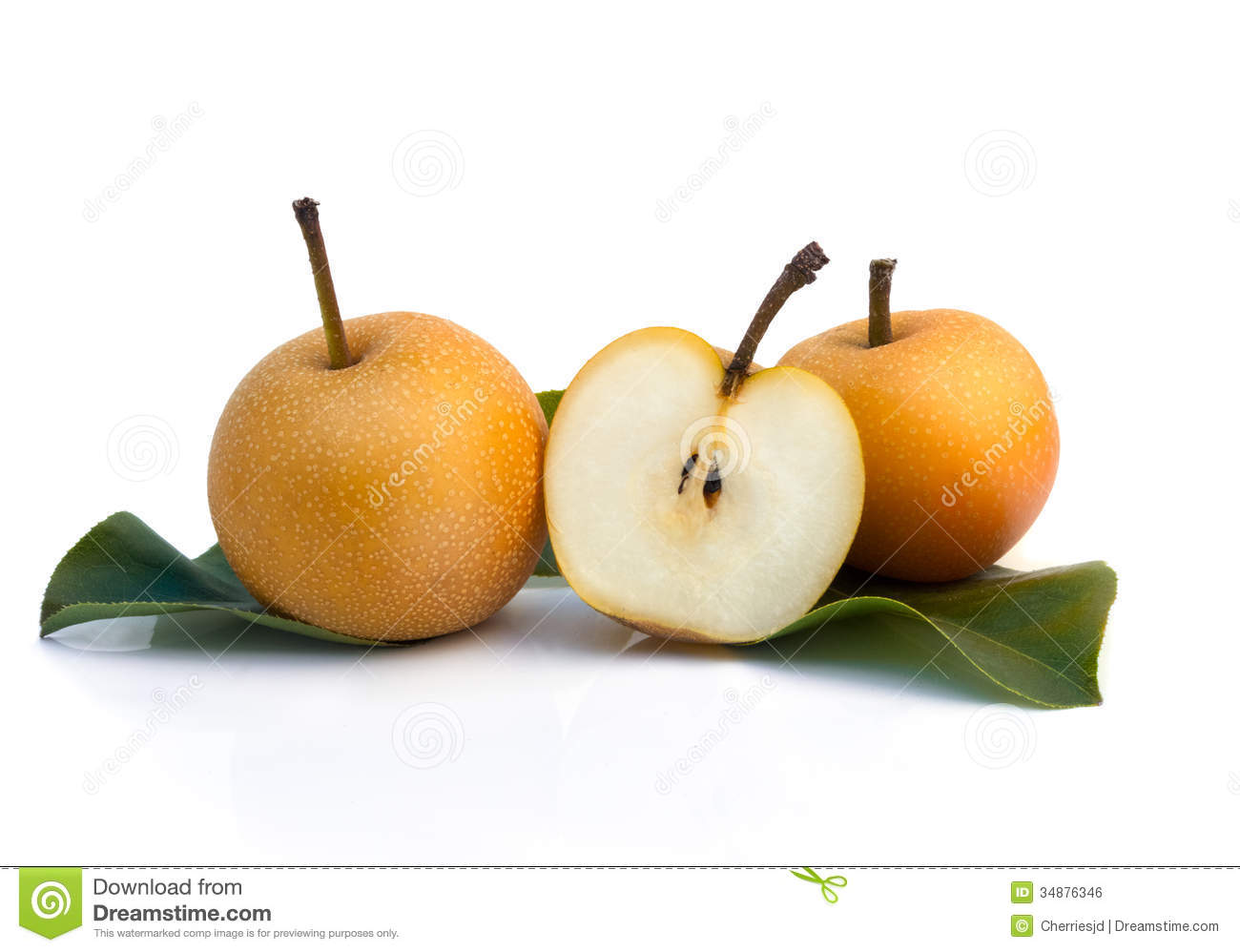 Nashi Pear Royalty Free Stock Image.