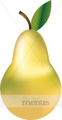 Asian Pear Clipart.