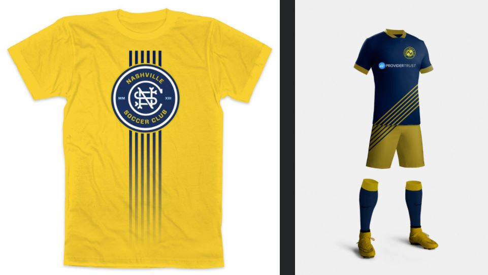 Nashville SC logo designs by Stephen Jones.