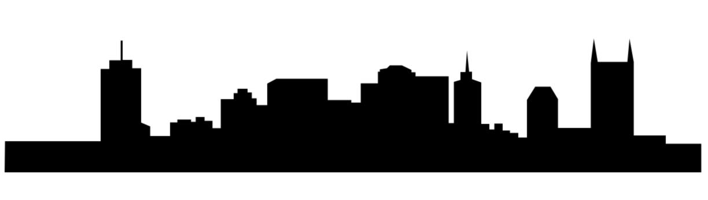 Simple Nashville skyline silhouette.