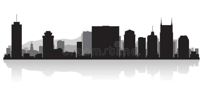 Nashville Skyline Stock Illustrations.