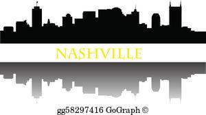 Nashville Skyline Clip Art.