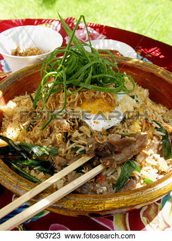 Stock Photo of Pork Nasi Goreng 903723.