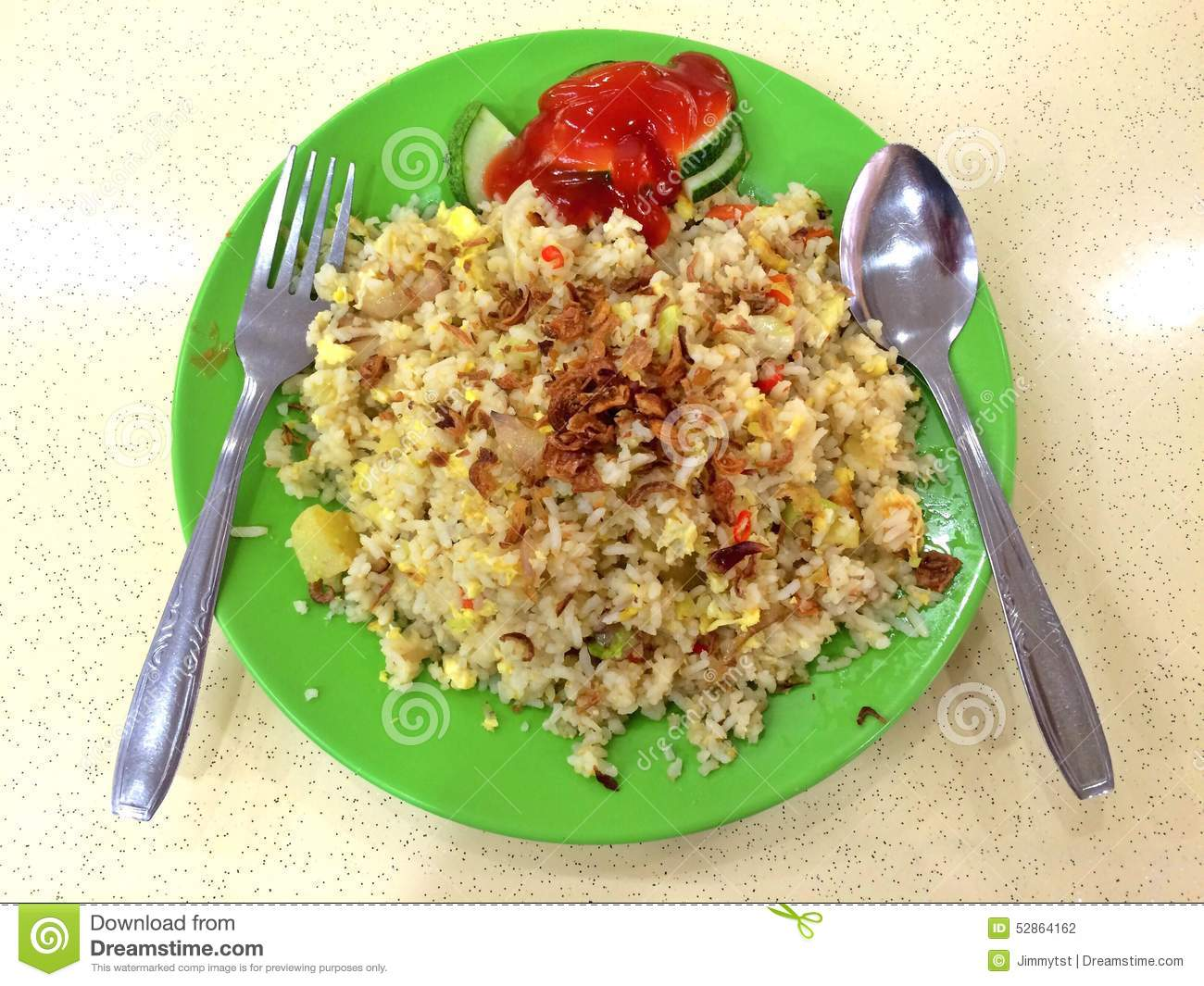 Indian Nasi Goreng Stock Photo.