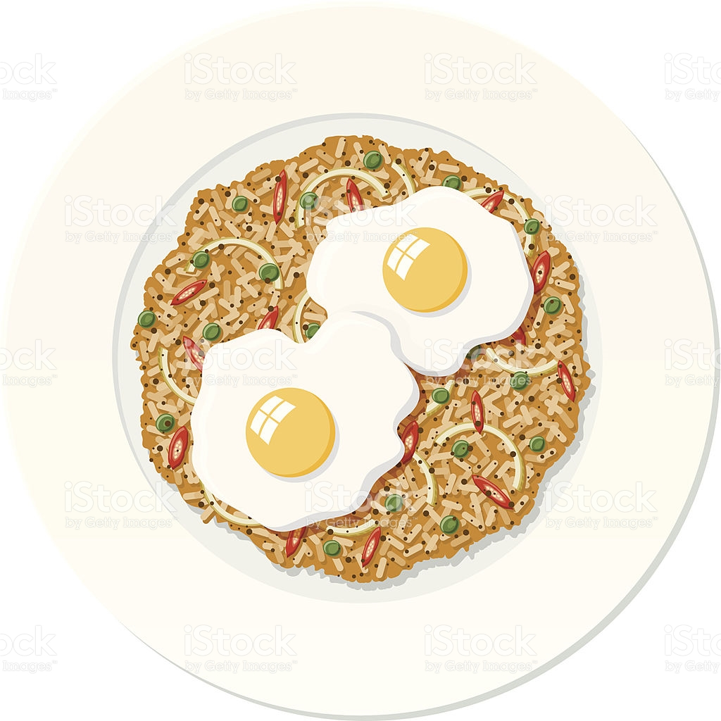 Nasi Goreng stock vector art 165955629.