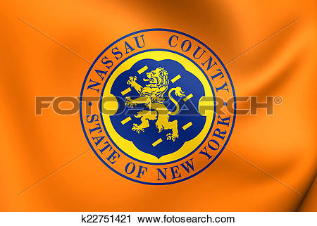 Clipart of Flag of Nassau County, USA. k22751421.