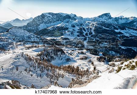 Pictures of Alps in winter, Ski resort Nassfeld k17407968.