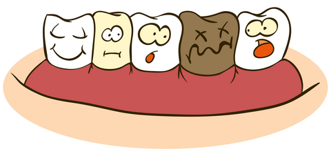 Clip Art Of Nasty Teeth Clipart.