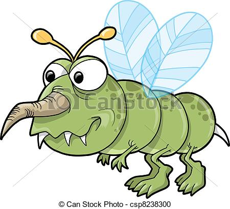 Vector Clip Art of Mean Nasty Insect Bug Vector Illustration.