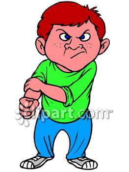 Schoolyard Bully Clip Art.
