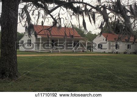 Stock Photo of Natchez, MS, Mississippi, Slave House at Melrose.