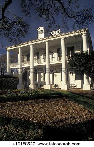 Picture of mansion, Natchez, MS, Mississippi, antebellum, Rosalie.