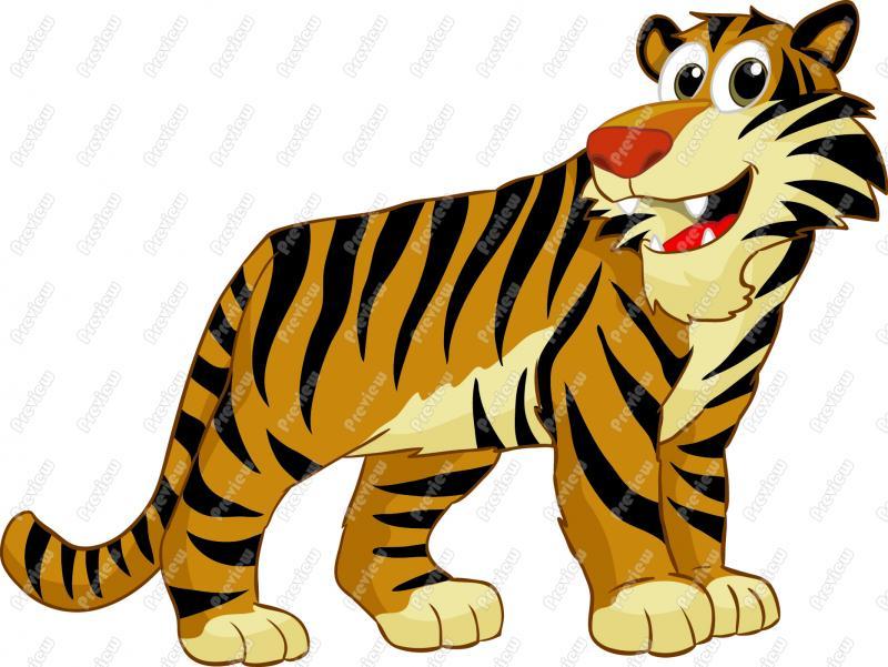CLIP ART: BABY ANIMALS: TIGER.