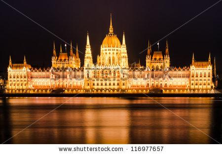 Hungarian Parliament Stock Photos, Royalty.