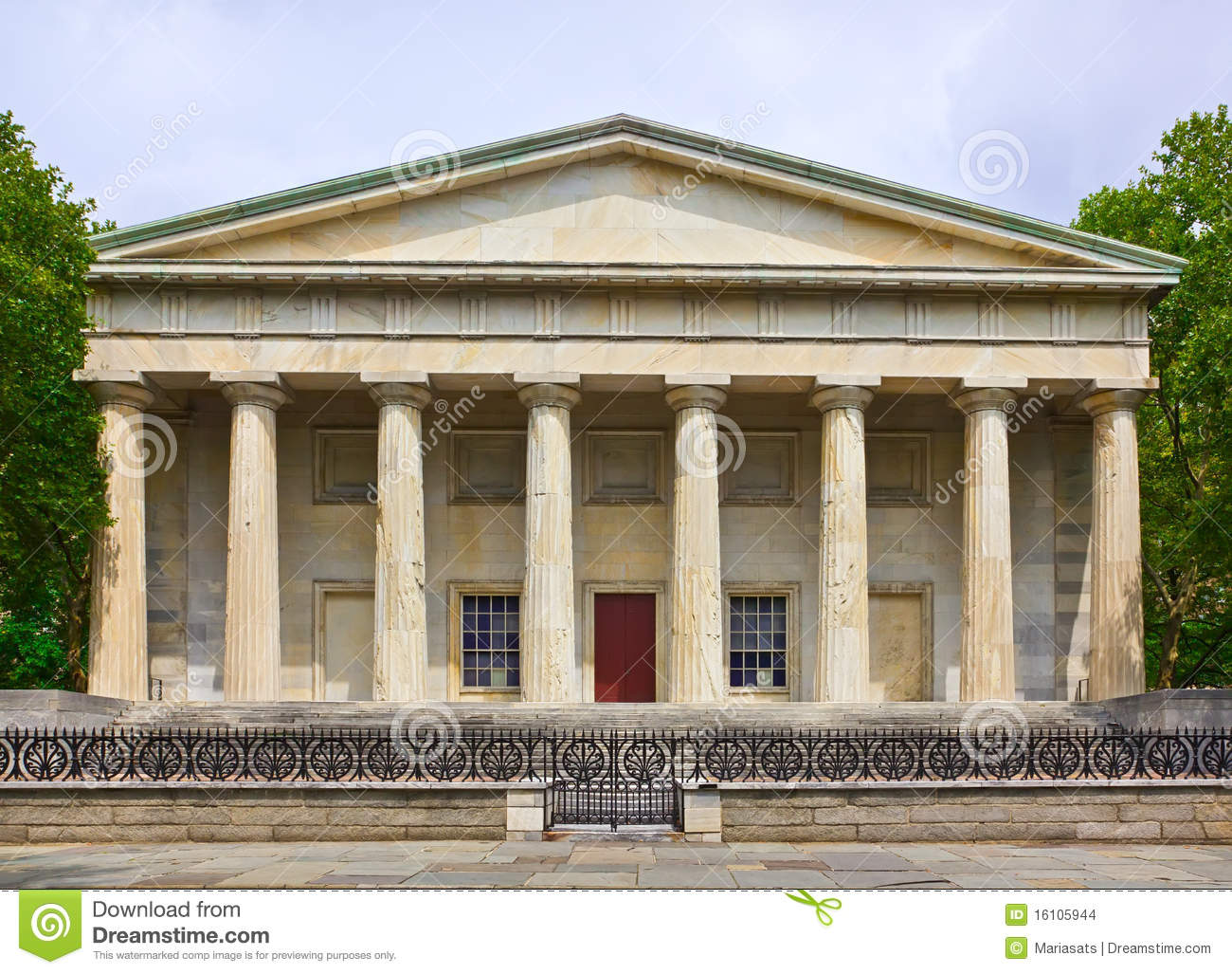 The Historic Second National Bank Building Stock Images.