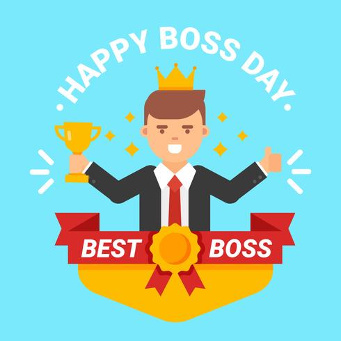 Happy National Boss Day Vector.